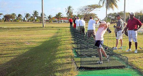 Driving range at Barbados Golf Club